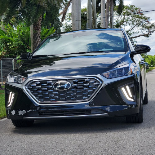 2020 Hyundai Ioniq Hybrid AZUL FRONTAL acho Autos